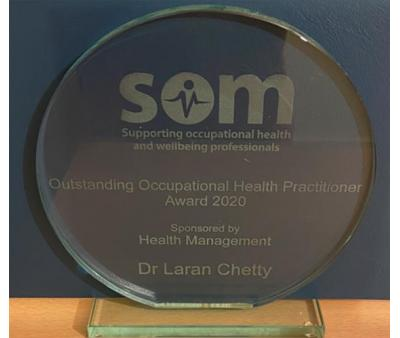 SOM award 2020 awarded to Laran Chetty